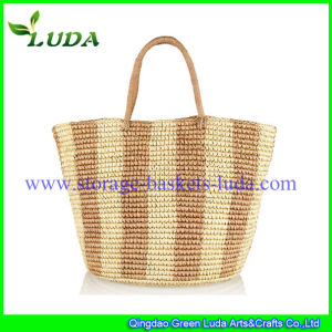 Luda New Fashioned Raffia Straw Beach Bag Tote Handbag
