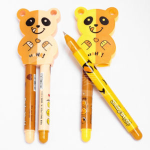 Cute Bear Doll Shape Novelty Plastic Pens for Kids pictures & photos