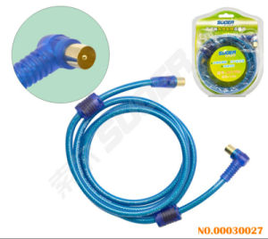 Suoer Double Loop TV AV Cable (AV-TV03-1.8M-Blue-Double Loop-Double Blister) pictures & photos