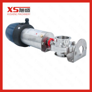 Food Grade Pneumatice Butterfly Valve with Controller and Positioner pictures & photos