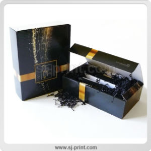 Superb Black High Quality Paper Package Wine Gift Box
