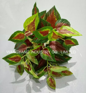 Evergreen Artificial Synthetic Fake Red Leaves