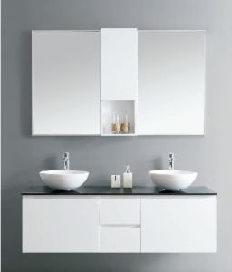 Bathroom Cabinet with Two Bathroom Basins (DS13) pictures & photos