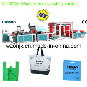 Onl-Xc700-800 Full Automatic Non-Woven Fabric Flat Bag Making Machine Price with Handle pictures & photos