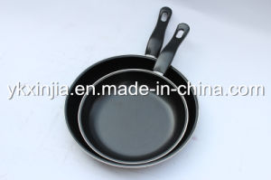 Kitchenware 20&23cm Carbon Steel Non-Stick Coating Fry Pan Set pictures & photos