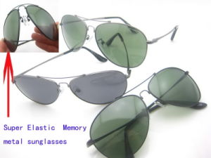 Super Elastic Polarized Lens Metal Frame Sunglasses with UV400 pictures & photos