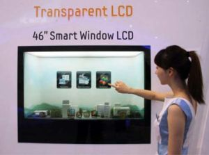 "46"" Transparent LCD Screen for Ad Player Showcase pictures & photos"