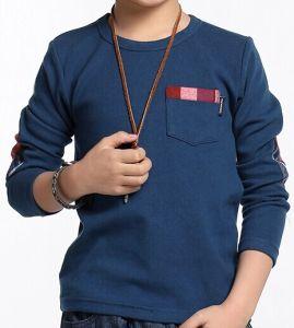 2014 Children New Fashion Long Sleeves Printed T-Shirt (YHR-13170)
