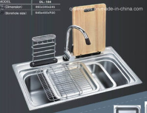 Stainless Steel Handmade Kitchen Sink (QW-104) pictures & photos