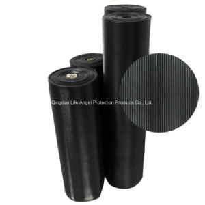 3mm Ribbed Rubber Sheet Floor Mat in Rol