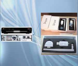 DVB-S/S2 HD Satellite Decoder WiFi Iks Dongle pictures & photos