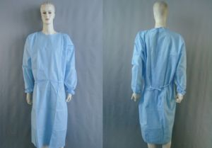 Disposable PP/PE/PP+PE/CPE/SMS Non-Woven Surgical Protective Gown pictures & photos
