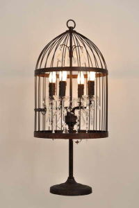 Decorative Iron Birdcage Table Lamp (MT2001-4LRR) pictures & photos