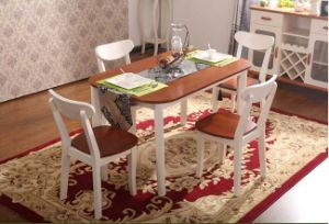 American Solid Wood Dining Furniture Rectangular Table and Chairs