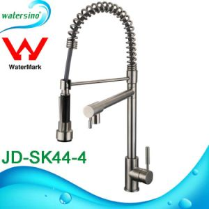 SUS304 Pull out Kitchen Sink Mixer Faucet with Gooseneck pictures & photos