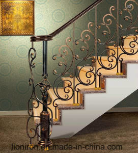 Europe Style Beautiful Wrought Iron Stair Railing pictures & photos