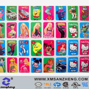 Custom Full Color Glossy Self Adhesive Water Resistant Kids Cartoon Packaging Stickers pictures & photos