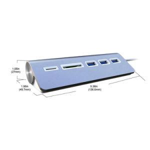 USB Type-C 3 Port USB3.0 Type C Hub Microsd & SD Type C Card Reader pictures & photos