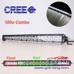 Slim CREE 100W LED Light Bar with 3D Reflectors pictures & photos