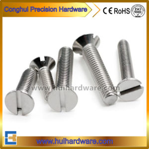 ANSI B18.6.3 DIN963 Standard Slotted Countersunk/Flat Head Screws pictures & photos