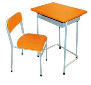 Single School Desk and Chair School Furniture (HT-47)