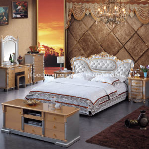 Solid Wood Antique Bedroom Set (V807) pictures & photos
