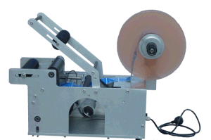 Multipurpose Manual Round Bottle Labeller with Printer, Labeling+Printing Machine for Wine/Water Bottle Mt-50