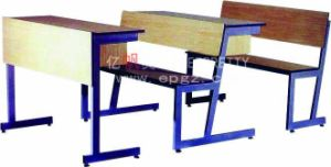 Fire Resistant Panel Step Table with Chair Attached pictures & photos