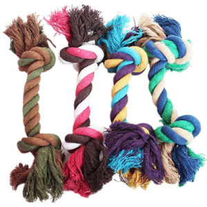 Dog Pet Toy Cotton Braided Rope Tug Chew Knot pictures & photos
