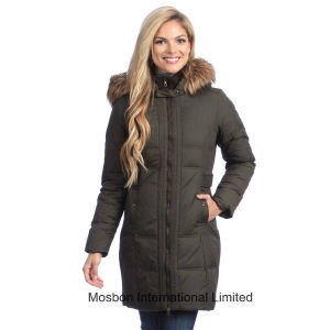 Women′s Long Down-Filled Hooded Coat pictures & photos