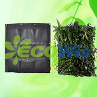 9 Pockets Wall Planter Green Pots Grow Container Bags (HT5096) pictures & photos