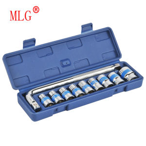 11PCS Blue-Ribbon Socket Wrench Set with L Type Handle (MLG11)