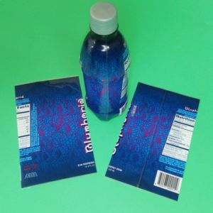 Plastic Shrink Label for Bottled Beverage Packing pictures & photos