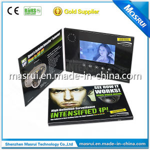 LCD Digital Video Greeting Card, Video Advertising Brochure