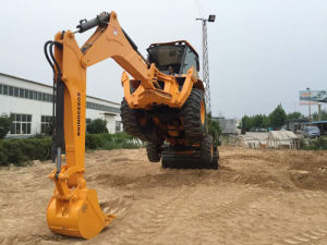 Xn880 8ton 0.3/1.15cbm Bucket Garden Tractor Loader Backhoe for Sale pictures & photos