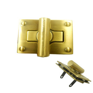 Dongguan Manufacturer Gold Metal Assemble Turnlock Tag for Bag pictures & photos
