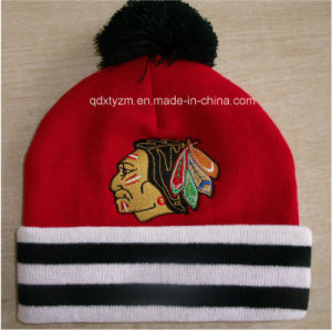 Cheap Wholesale Custom Embroidered Beanies with POM
