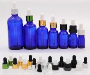 Blue Essential Oil Glass Bottle with Dropper (NDB07) pictures & photos