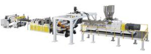Precision Low Energy Consumption PLA Pet Sheets Extrusion Line pictures & photos