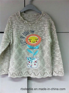 Girls Flowerpot Sweater - True Knitted pictures & photos