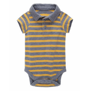 Supply Stripes Polo Neck Baby and Infant Clothing pictures & photos