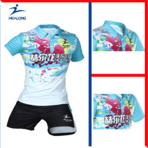 Healong Customized Sportswear Sublimation Printing Tennis Jersey for Sale pictures & photos