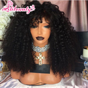 Full Lace Front Human Hair Wigs Natural Curly pictures & photos