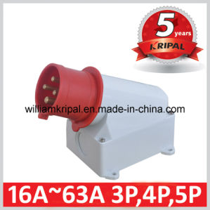 IP44 32A 3p+N+E Industrial Wall Mounted Plug pictures & photos