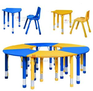 Nursery School Furniture U Shape Kids Table and Chairs pictures & photos