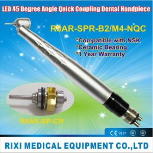 LED Anti-Retraction 45 Degree Angle Quick Coupling Dental Handpiece