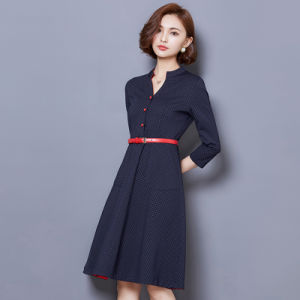 Summer Office Ladies Career Style Half Sleeve Dress pictures & photos
