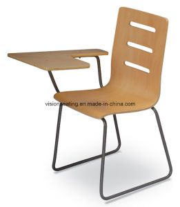 Wood Student School Classroom Chair with Folding Writing Pad (7102) pictures & photos
