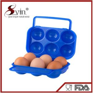 Outdoor 6 or 12 Eggs Waterproof Plastic PE Portable Egg Holder Tray