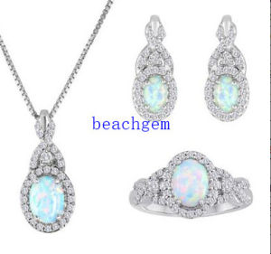 Opal 925 Sterling Silver Jewelry Set (S1276) pictures & photos
